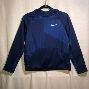 Nike Boys Blue And Navy Hoodie Size L